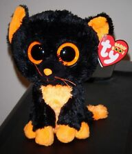 "Ty Beanie Boos ~ MOONLIGHT the 6"" Cat (RED TAG & Glitter Eyes) ~MINT w/ MINT TAG"