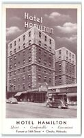 Vintage Hotel Hamlton, Farnam at 24th Street, Omaha, NE Postcard