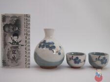 Set Bottiglia da Sake con 2 bicchieri in ceramica giapponese e confezione regalo