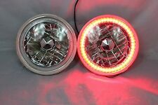 "1963-1978 Chevy Nova 7"" Round 6014/6015/6024 Red LED SMD Halo Headlights"