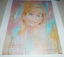 Barry Leighton Jones Princess Diana Di Lithograph hand signed numbered authentic