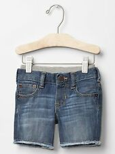 GAP Baby Boy 6-12 Months Blue Pull-On Ripped Cutoff Denim Shorts Jeans Pants