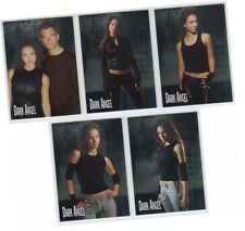 """Dark Angel Premiere - 5 Card """"Foil"""" Chase Set 1 of 5 - 5 of 5 - Topps 2002"""