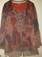 Damen Twinset mit T-Shirt u toller Bluse Gr.XL von Bonita