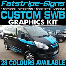 Ford TRANSIT Custom SWB Graphics Stickers Stripes Decals St M Sport Day Van #1