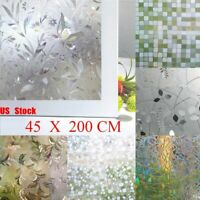 3D Privacy Window Glass Film Sticker Static Cling Frosted Stained Bathroom Home