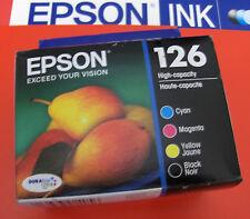 4 Genuine Epson Ink 126 T1261 T1262 T1263 T1264 BCMY WF 60 630 633 635 840 NX430
