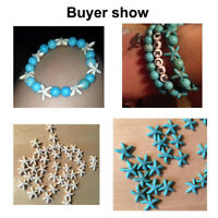 Making Starfish Blue White Small Seed Beads Turquoise Beads Loose Spacer