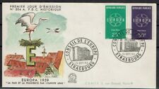 FRANCE FDC - 312a 1218 1219 2 EUROPA STRASBOURG 19 9 1959