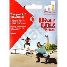 VODAFONE UK PAYG pagamento a servizio include standard, Micro & Nano Triple SIM