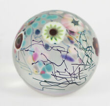 Vintage Herb A Thomas HAT Signed Studio Art Glass Millefiori Paperweight 2 7/8""