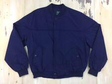IVY CLUB CLASSICS - Vtg 80s Navy Blue Harrington Jacket, Mens XL - MUST SEE!