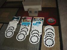 Vintage Viewmaster  (60's/70's)  GAF 21 Piece Viewer /Reel/ Case Set -Pre-Owned