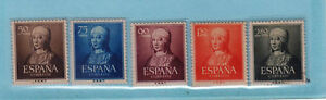 Spain Stamps 1951 Queen Isabella I, 500th Birth Anniversary complete mint, no gu