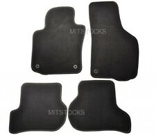 FIT FOR 06-09 VOLKSWAGEN GOLF RABBIT GTI BLACK NYLON CARPET FLOORMATS 4 PCS NEW
