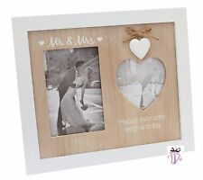 Mr & Mrs Modern Shabby Chic Picture Collage Gallery Photo Frame Wedding Gift