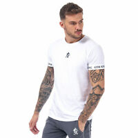 Mens Gym King Cuff T-Shirt In White