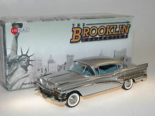 Brooklin BRK 155a 1958 Buick Roadmaster 75 4-Door Sedan silver 1/43 deleted