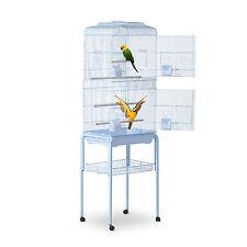 "PawHut 63""Bird Large Cage Metal w/ Wheels Parrot Finch Pet Supplies Tray White"