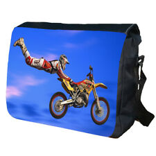Dirt Bike Biker Personalised School Shoulder Messenger Bag