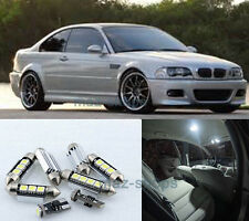 16PCS White Interior LED Light Package kit Error Free for 1999-2006 BMW E46 M3