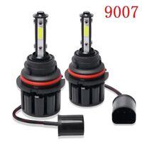 Pair 9007 HB5 4side LED Headlight  High Low Beam Kit 100W 20000LM 6000K White