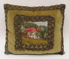 Beautiful Antique Petit Point Velvet Pillow Early 1900s