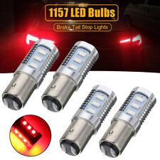 4x Red 1157 LED Bulbs Flashing Strobe Blinking Tail Stop Brake Lights Lamp US ~