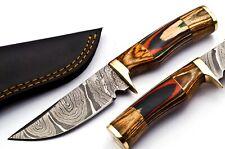 DAGGERSDEN DDK-B0395 CUSTOM DAMASCUS STEEL 8 INCH HUNTING SKINNER KNIFE