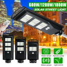 1800W 576 Luz Solar LED Wall Street Sensor De Movimiento Lámpara de inundación al aire libre + Control Remoto