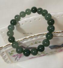 Certified Grade A oil green Jadeite Jade 10mm beads bracelet 20pcs, gemstone