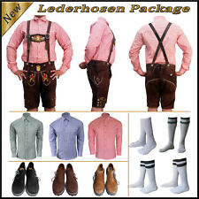 German Bavarian Trachten Oktoberfest 4 Pcs. Short Lederhosen Package / Set Lw123