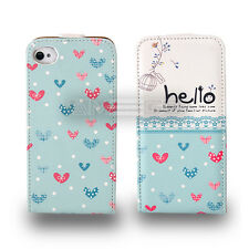 Hello Graphic Prints Flip leather case for smart phone Samsung Sony Apple UKFREE