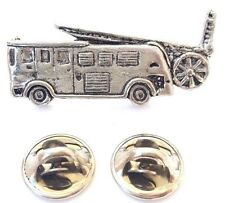 Fire Engine Handcrafted in Solid Pewter in Uk Lapel Pin Badges