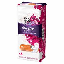 Always Discreet Regular Length Incontinence Liners Very Light Absorbency 48 Ct