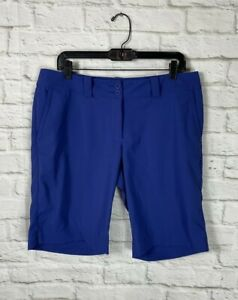 NIKE Dri Fit  Golf Womens Blue Purple Bermuda Shorts Size 12