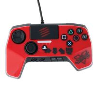 NEW AND IMPROVED D PAD PS4 STREETFIGHTER GAMEPAD PRO CONTROLLER RED. FREE SHIP!!