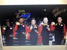 ALY REISMAN GABBY DOUGLAS AUTOGRAPH SIGNED HUGE 20X30 PHOTO STEINER USA GOLD