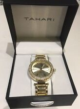 TAHARI Women's Gold Tone Bling Watch Large Dial Great Style New $98 Great Deal