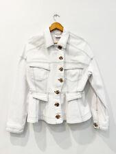 Designer Ackler Size 12 White Denim Chic Perfect Women's Jacket