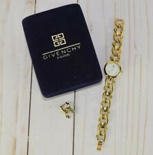 Vintage Givenchy Paris Gold Plated Watch GV-LGBRW-2005 Original Velour Box