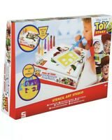 Disney Toy Story Stencil Art Studio With Blow Pens Kids Colouring Craft Sambro