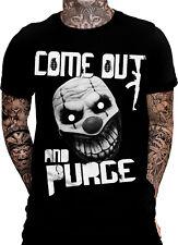 Come out and Purge T-Shirt Horror Sprüche Fun Shirt The first Gamer Wiederstand