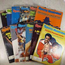 Lot of 12 SPORTS ILLUSTRATED Magazines Vintage 1976, 1978, 1979