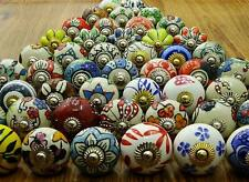 Assorted Multicolour Ceramic Drawers Knobs Door Cupboard Pulls Indian Mix Knobs