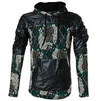 Eksi1 Herren Designer Slim Fit Windbreaker mit Kapuze Camouflage Hoodie Pullover