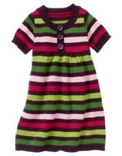 Gymboree Girl Size 3 Pups and Kisses Multi-Color Striped Sweater Dress NEW