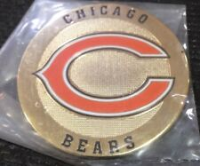 Chicago Bears metal Round Logo Poker Cards Protector