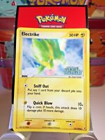"Electrike 52/100 ""Stamped"" ( Ex Crystal Guardians ) Holo Pokemon Card EX"
