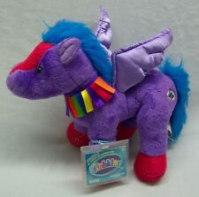 "Ganz VERY SOFT RAINBOW PEGASUS 10"" Plush Stuffed Animal Toy Webkinz NEW"